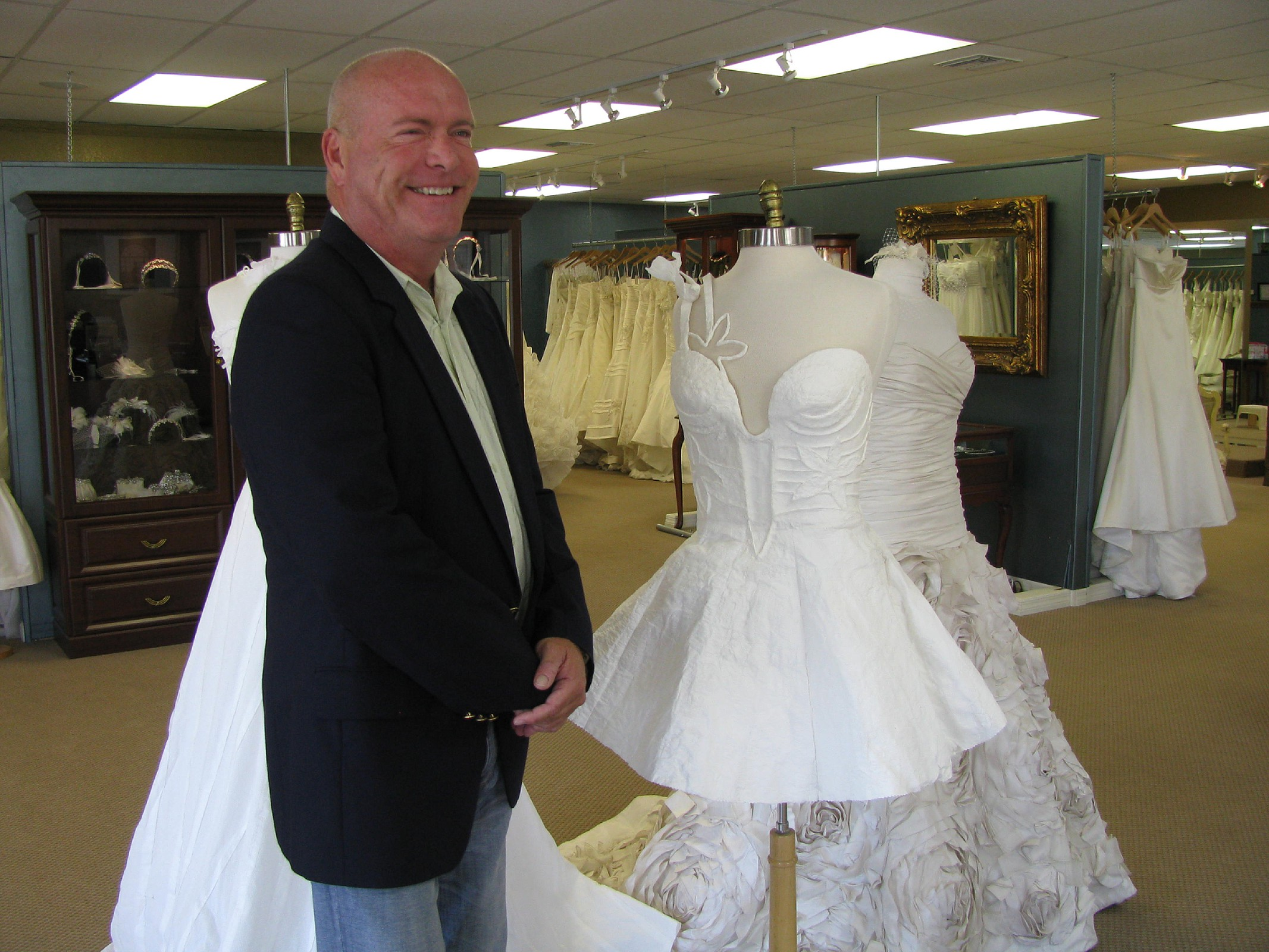 The 2010 toilet paper wedding dress contest for Boca raton wedding dresses